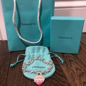 Tiffany Color Splash Heart Tag Bracelet (Small)